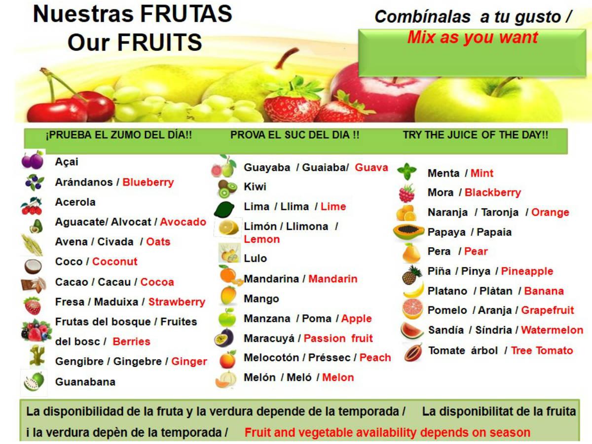 zumos naturales en Barcelona
